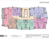 Подъезд 1, этажи 14-16