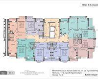 Подъезд 1, этажи 4-9