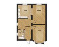 1-этажный дом, 90 кв.м