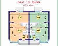 Площадь дома 108 кв.м, этаж 1