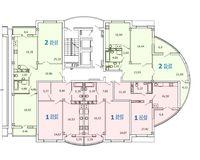Литер 1, секция 2, этажи 10-12