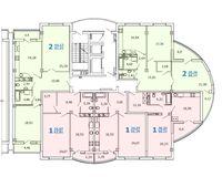 Литер 1, секция 2, этажи 2-9