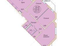 3 комнатная квартира 107,77 кв. м