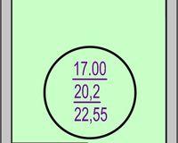 Студия 22,55 кв. м