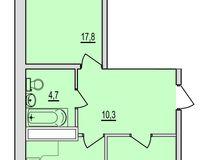 2 комнатная квартира 61,95 кв. м