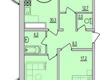 3 комнатная квартира 100,53 кв. м