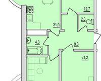 3 комнатная квартира 104,05 кв. м