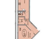 1 комнатная квартира 51,38 кв. м