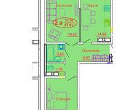 2 комнатная квартира 67,81 кв. м