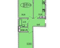 2 комнатная квартира 65,17 кв. м