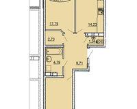 2 комнатная квартира 66,17 кв. м